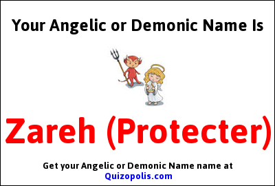 Angelic or Demonic Name Generator