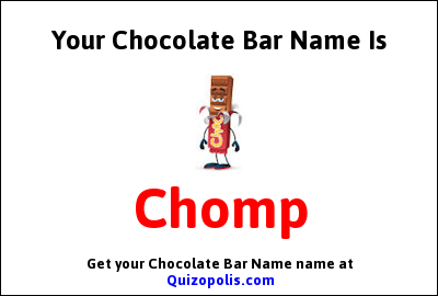 Chocolate Bar Name Generator