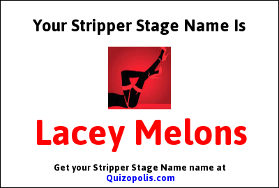 Stripper Stage Name Generator