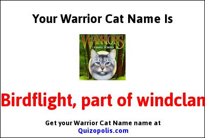 Warrior Cat Name Generator