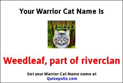 Warrior Cat Name Generator