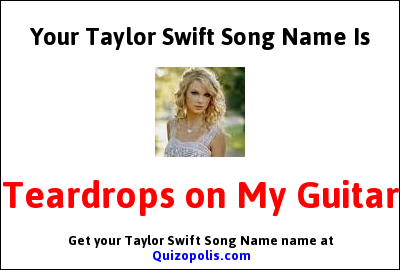 Taylor Swift Song Name Generator