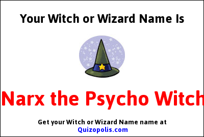 Witch or Wizard Name Generator