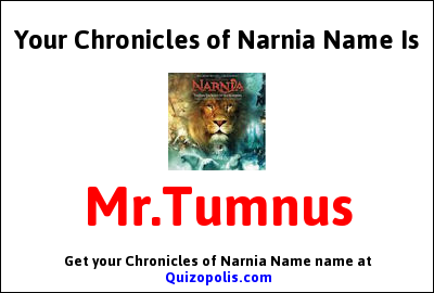 Chronicles of Narnia Name Generator