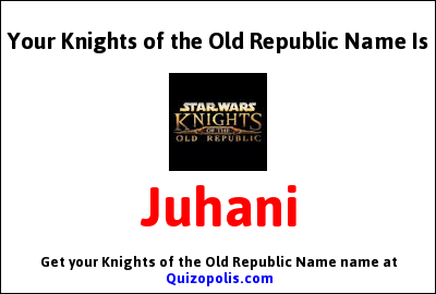 Knights of the Old Republic Name Generator