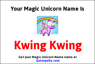 Magic Unicorn Name Generator