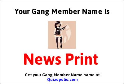 Gang Member Name Generator